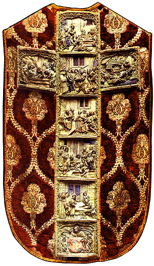 Chasuble with the world's top masterpieces of Gothic needlework.