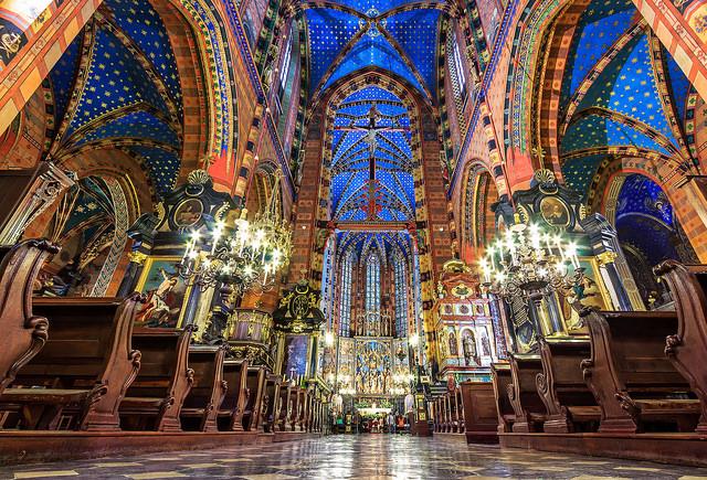 Interior of St Marys Basilia